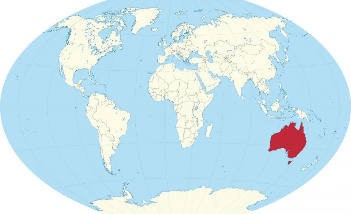 Australien-world map - Australien auf der Weltkarte ...